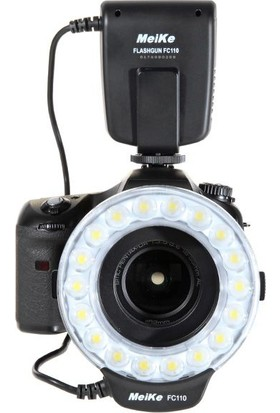 Meike Fc110 Led Macro Ring Flaş Canon, Nikon, Pentax, Olympus Uyumlu