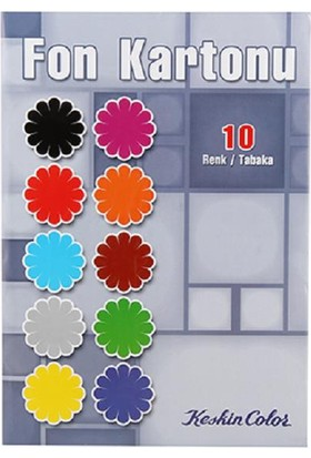 K.Color 10Lu Zarflı Fon Kartonu