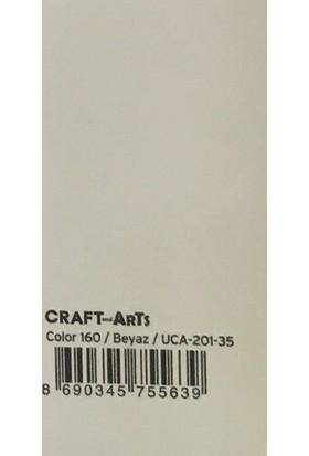 Craft and Arts 35x50 cm 160 gr. Beyaz Fon Kartonu (Kağıdı) UCA-201-35