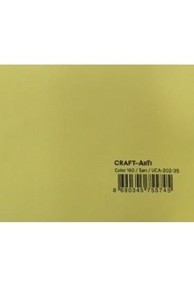 Craft and Arts 35x50 cm 160 gr. Sarı Fon Kartonu (Kağıdı) UCA-202-35 H