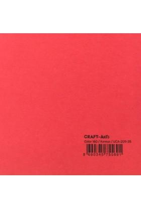 Craft and Arts 35x50 cm 160 gr. Kırmızı Fon Kartonu (Kağıdı) UCA-205-3