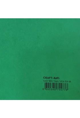 Craft and Arts 35x50 cm 160 gr. Yeşil Fon Kartonu (Kağıdı) UCA-213-35