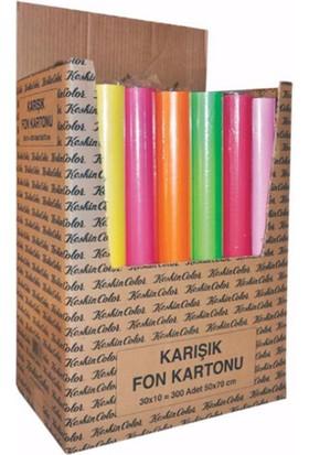 Keskin Color 50x70 cm 10 Renk Karışık Fon KArtonu 160 gr.