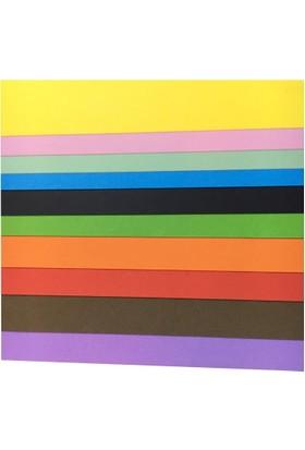 Komeks 50x70 cm Fon Kartonu 10'lu 10 Renk Hamurdan Boyama 120 gr.
