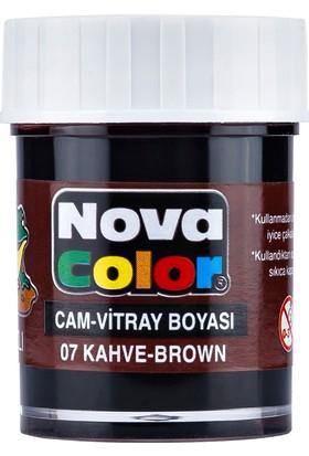 Nova Color Cam Boyası Su Bazlı Kahve