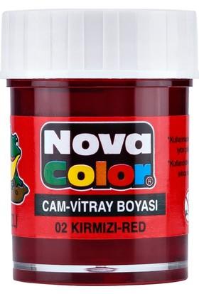 Nova Color Cam Boyası Su Bazlı Kırmızı