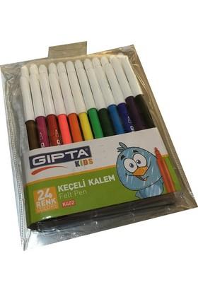 Gıpta Keçeli Kalem 24 Renk