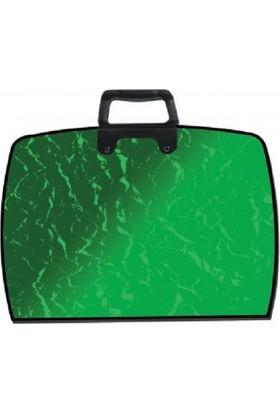 Abka Art College 38x55 cm Metalik Yeşil Proje Resim Çantası 35x50