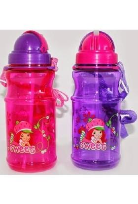 Çilek Kız Sg-0175 Plastik Su Matarası 500 ml.