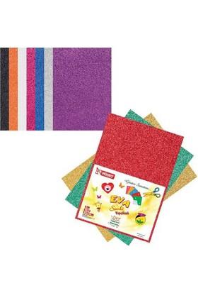 Mikro Eva-004 10 Renk 2 mm 20x30 cm 10 Renk Simli Yapışkanlı