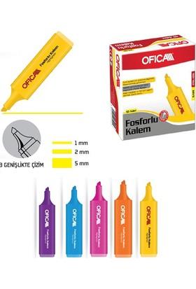 Ofica Fosforlu Kalem Sarı FFK-10S