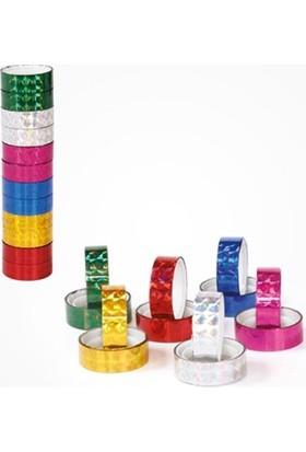 Onas Renkli Bant Metalik Renkler 6x2=12 Adet