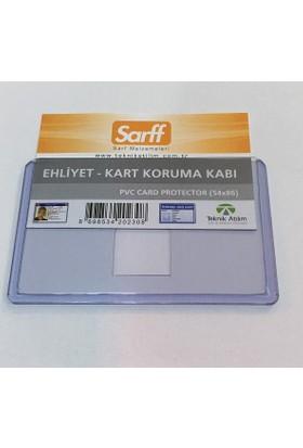 Sarff Ehliyet Kart Koruma Kabı 54x86 mm Yeni Kimliklere Uygun