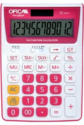 Ofica Hesap Makinesi Masa Tipi 12 Hane Pembe TAX'lı FH-5200-P