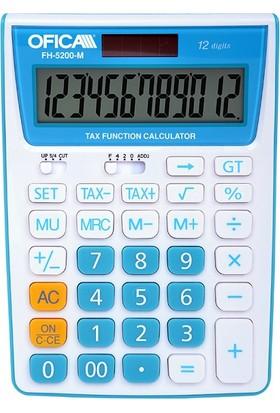 Ofica Hesap Makinesi Masa Tipi 12 Hane Mavi TAX'lı FH-5200-M