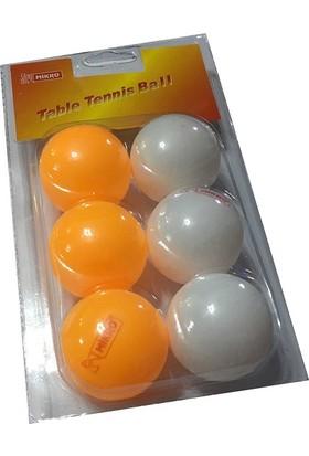 Mikro Pinpon Topu 6 Adet (3 Beyaz 3 Turuncu)