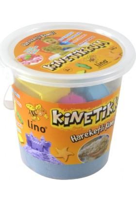 Lino Kinetik Kum Yeşil 1000 gr. Kovalı 10 Adet Kalıp Hediye