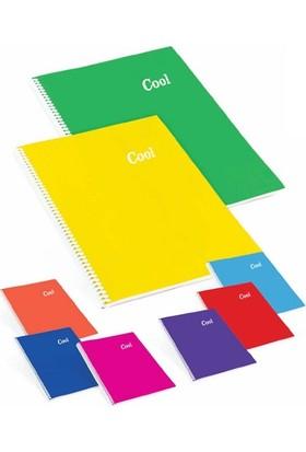 Keskin Color Cool 72 Yp. Çizgili A5 Plastik Kapak Spiralli Defter