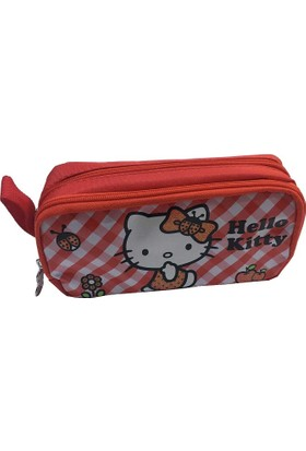 Hello Kitty Lisanslı İki Gözlü Kalem Çantası (Kalemlik)87565