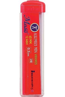 Masis Kırmızı Uç Kalem Ucu 0.5 mm. 60 mm 24 lü