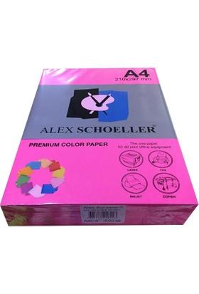 Alex Schoeller A4 Fotokopi Kağıdı 500 lü Fosforlu Pembe 750