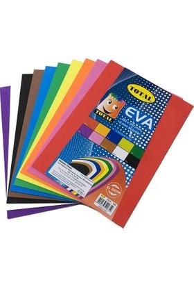 Total Düz Eva 210x297 mm A4 2 mm 10 Renk 10 Adet