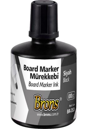 Brons Beyaz Tahta Kalemi Mürekkebi Siyah 100 cc. BR-353