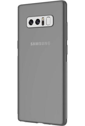 Case 4U Samsung Galaxy Note 8 Silikon Kılıf Füme/ Siyah