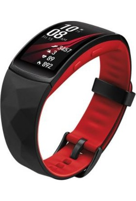 Samsung Gear Fit2 Pro - Uzun Kayış - Kırmızı