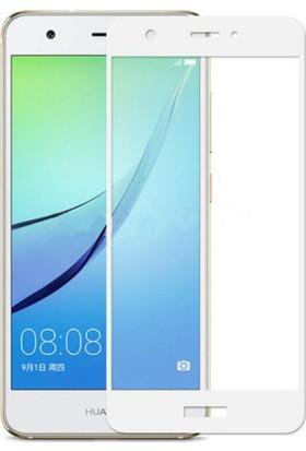 Microcase Huawei Nova Flexible Çerçeveli Esnek Tempered Cam Koruma