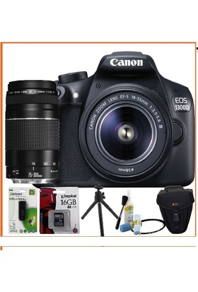 Canon Eos 1300D Dslr Fotoğraf Makinesi 18-55Mm 75 300Mm Lens Kitli