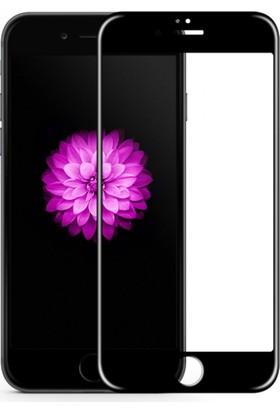 Case 4U Apple iPhone 6 Plus Full Kapatan Mat Parmak İzi Bırakmayan Cam Ekran Koruyucu Siyah