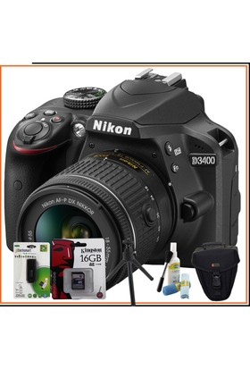 Nikon D3400 Dslr Fotoğraf Makinesi 18-55Mm Vr Lens Kitli