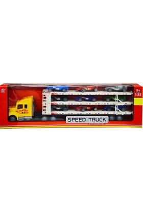 Erkol Oyuncak 3998 - 26 Kutulu Speed Truck Taşıyıcı Tır 9 Araba