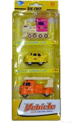 Erkol Oyuncak Jp011 Metal Araba 3'lü - Kutulu - Die Cast Model Cars +3 Yaş