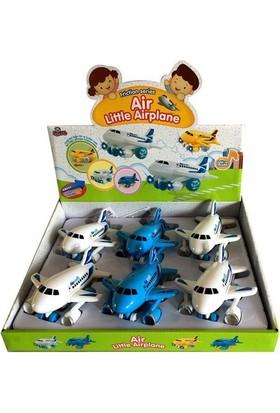 Vardem Oyuncak Sesli Işıklı Sürtmeli Sevimli Uçak