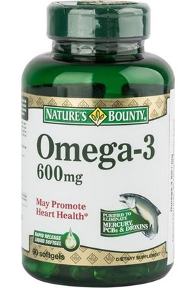 Nature's Omega 3 600 mg 90 Softgel