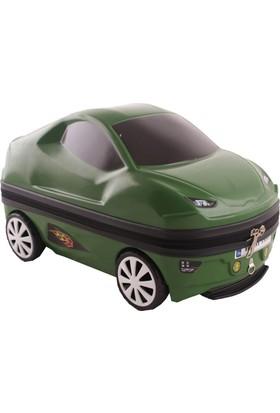 Laguna 2024 Araba Şeklinde Pvc Çocuk Valizi Yeşil