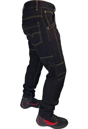Durt Jet Black. Motosiklet Siyah Kot Pantalonu