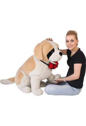 Hdm Peluş Köpek Oyuncak 85 cm Saint Bernard Büyük