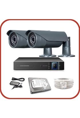 Promax Pro2042S 2'Li 3 Megapiksel Sony Lens 1080P Aptina Sensör Güvenlik Kamerası Seti