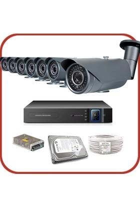 Promax Pro1342S 7'Li 3 Megapiksel Sony Lens 720P Aptina Sensör Güvenlik Kamerası Seti