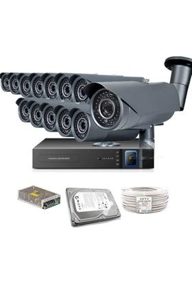 Promax Pro1342S 13' Lü 3 Megapiksel Sony Lens 720P Aptina Sensör Güvenlik Kamerası Seti