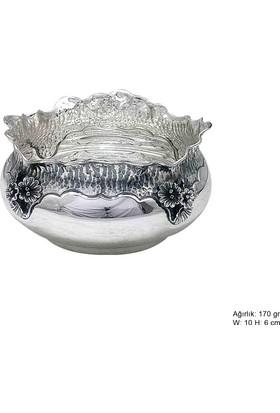 Meryemzeynep Orkide Motifli Gümüş Şekerlik