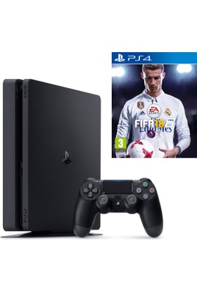 Sony Ps4 Slim 500Gb Oyun Konsolu + Ps4 Fifa 18 (İthalatçı Garantili)