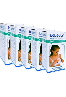 Bebedor Göğüs Pedi 40 Lı Kutu 5'Li Paket