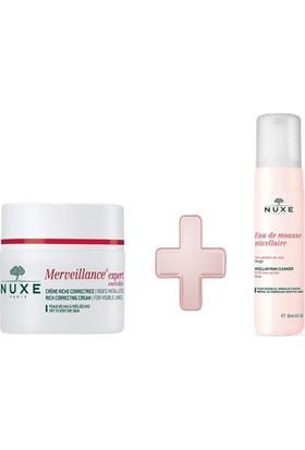 Nuxe Merveillance Expert Enrichie Creme 50 Ml + Nuxe Eau De Mnuxeousse Micellaire Rose 150 Ml Yüz Temizleme Köpüğü