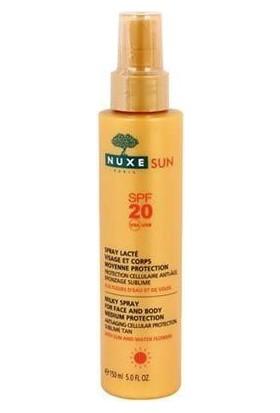 Nuxe Sun Güneş Koruyucu Yüz Ve Vücut Sütü Sprey Lacte Spf 20 150 Ml
