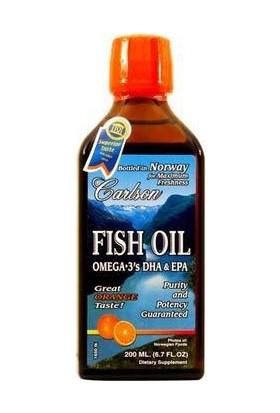 Carlson Fish Oil Omega 3 Balık Yağı Şurubu Portakal Aromalı 200 Ml
