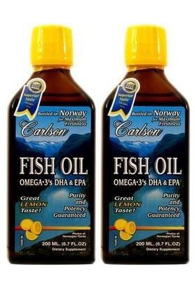 Carlson Fish Oil Omega 3 Balık Yağı Şurubu Limon Aromalı 200 Ml (2'Li)